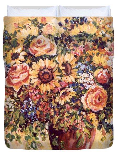 Late Summer Bouquet Duvet Cover