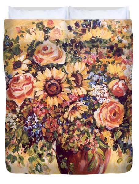 Late Summer Bouquet Duvet Cover