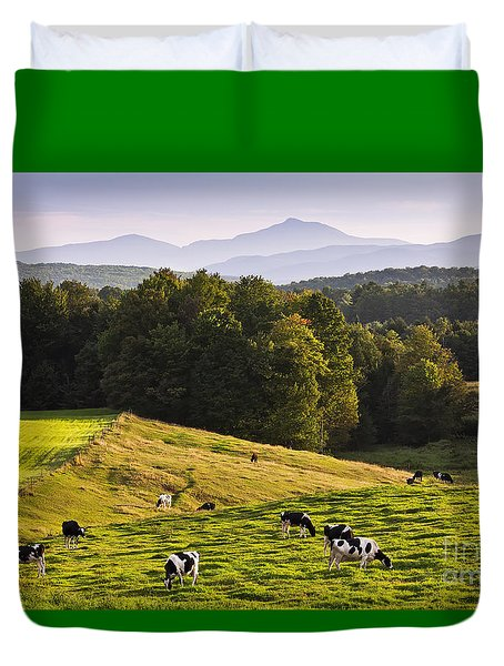 Late Summer Countryside Duvet Cover