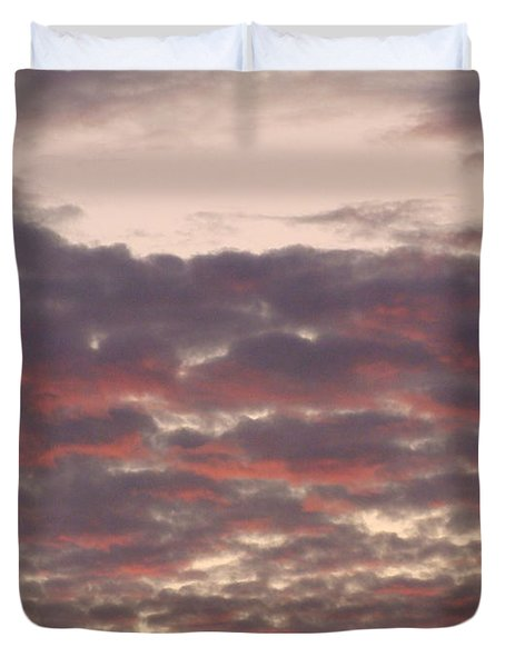 Late Summer Evening Sky Duvet Cover