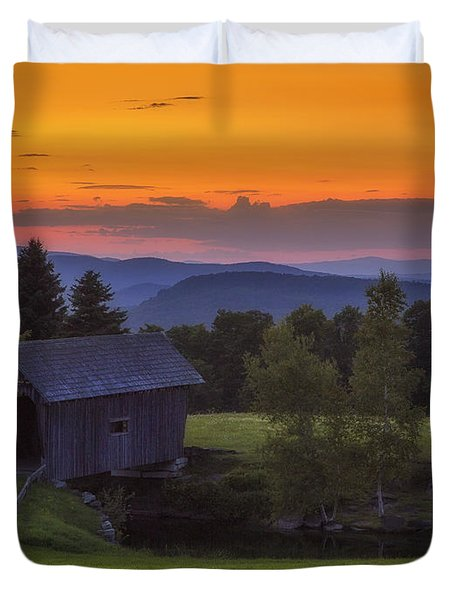 Late Summer Sunset Duvet Cover