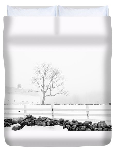 Late Winter Duvet Cover by Alana Ranney