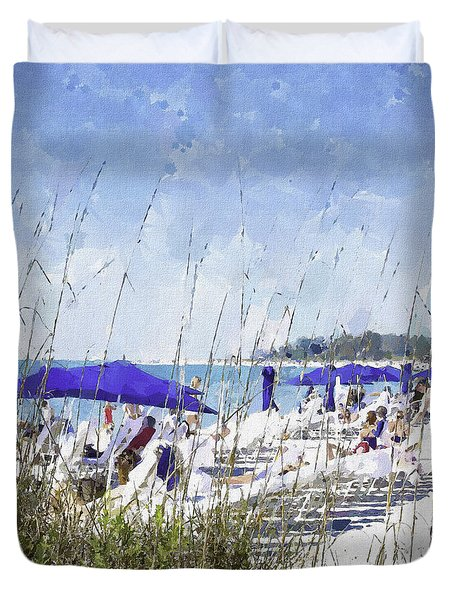 Late Winter Early Spring When Everybody Goes To Florida Duvet Cover