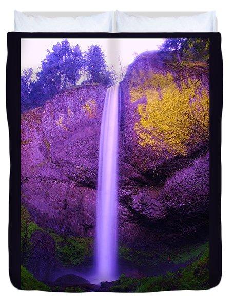 Latourall Falls Duvet Cover by Jeff Swan