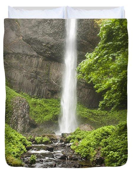 Latourelle Falls 10a Duvet Cover by Rich Collins