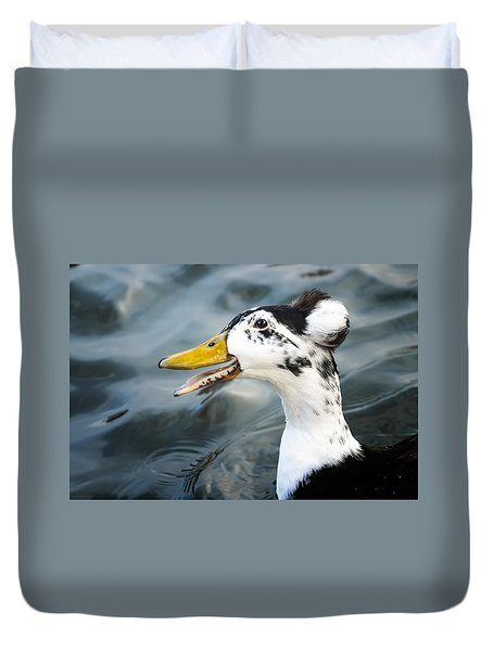 Laughing  Duck Duvet Cover by Caitlyn  Grasso
