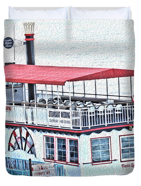 Laughlin Riverboat Duvet Cover