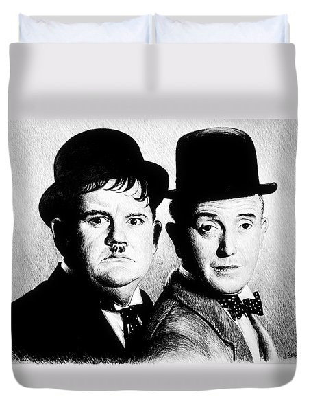 Laurel And Hardy Another Fine Mess Duvet Cover
