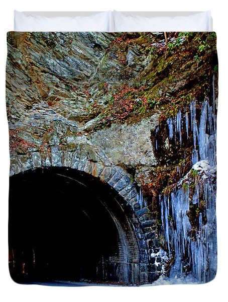 Laurel Creek Road Tunnel Duvet Cover by Paul Mashburn