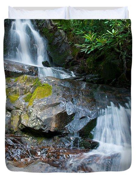 Laurel Falls Duvet Cover by Melinda Fawver