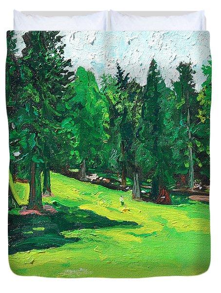 Laurelhurst Park Duvet Cover by Joseph Demaree