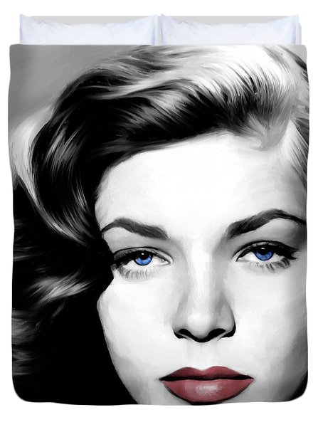 Lauren Bacall Large Size Portrait Duvet Cover