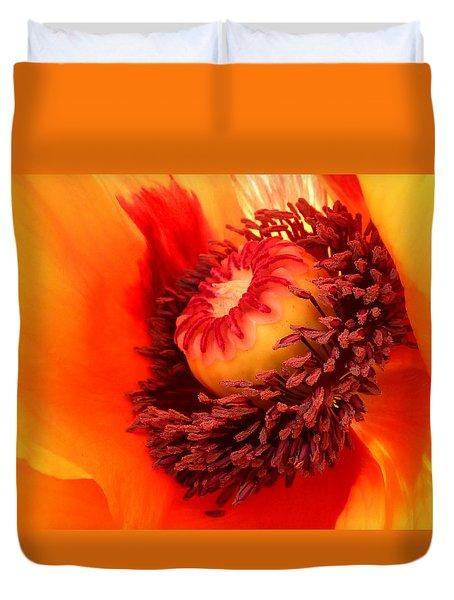 Lava Flow Duvet Cover by Connie Handscomb