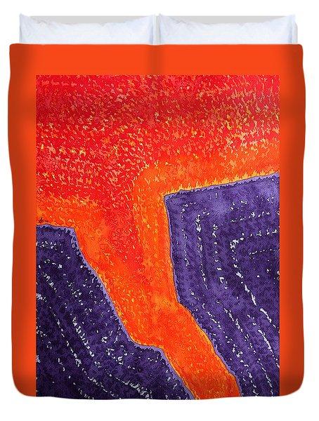 Lava Flow Original Painting Duvet Cover