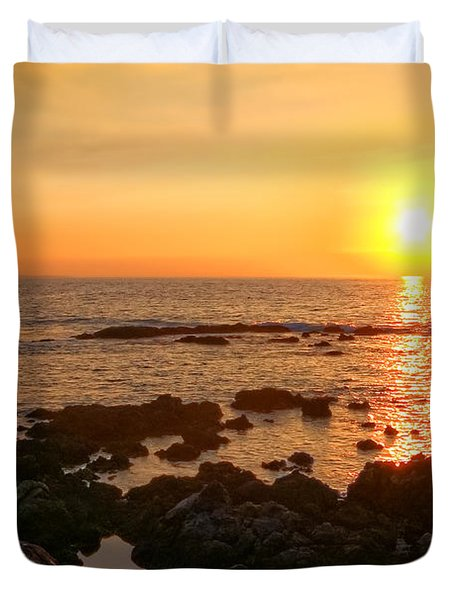 Lava Rock Beach Duvet Cover