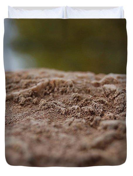 Lava Rock Landscape I Duvet Cover