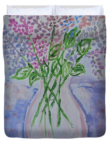 Lavendar  Flowers Duvet Cover