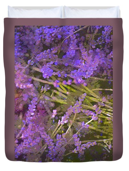 Duvet Cover featuring the photograph Lavender 6 by Pamela Cooper