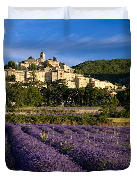 Lavender And Banon Duvet Cover by Brian Jannsen
