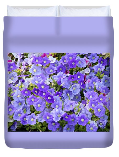 Lavender And Purple Duvet Cover by Mariarosa Rockefeller