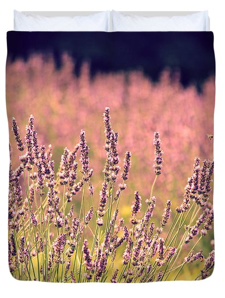 Duvet Cover featuring the photograph Lavender Dreams by Lynn Sprowl