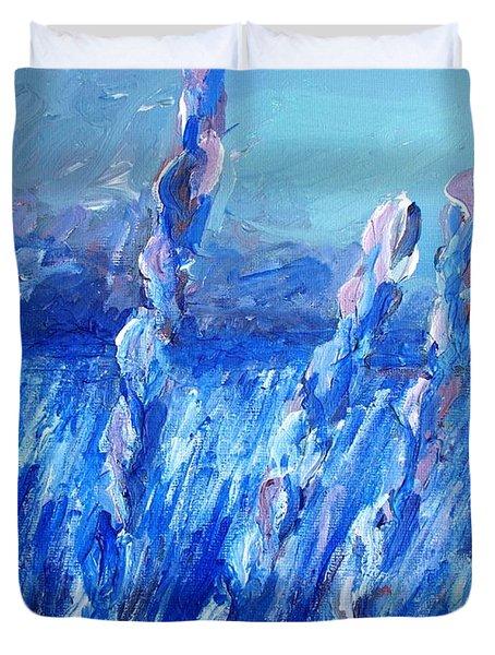 Lavender Field Landscape Duvet Cover by Eric  Schiabor