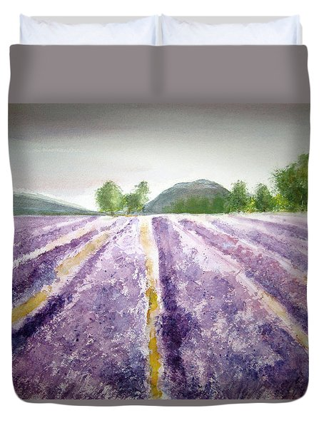 Lavender Fields  Duvet Cover