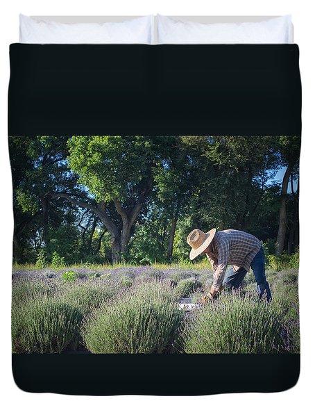 Lavender Harvest Duvet Cover
