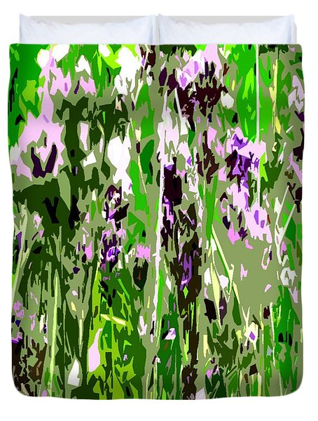Lavender In Summer Duvet Cover by Patrick J Murphy