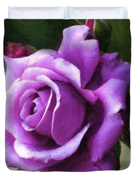 Lavender Lady Duvet Cover by RC deWinter