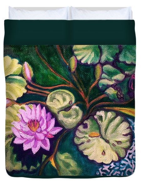 Lavender Lotus Flower Duvet Cover