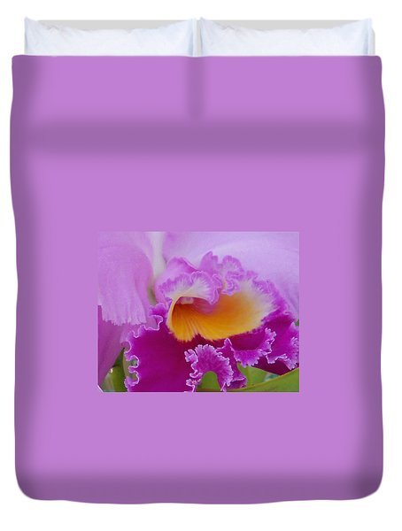 Duvet Cover featuring the photograph Lavender Orchid by Aimee L Maher Photography and Art Visit ALMGallerydotcom