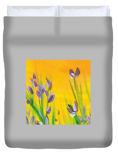 Lavender - Hanging Position 1 Duvet Cover