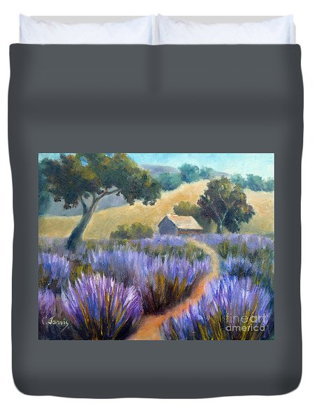 Lavender Path Duvet Cover