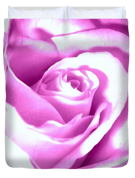 Duvet Cover featuring the photograph Lavender Rose  by Janine Riley