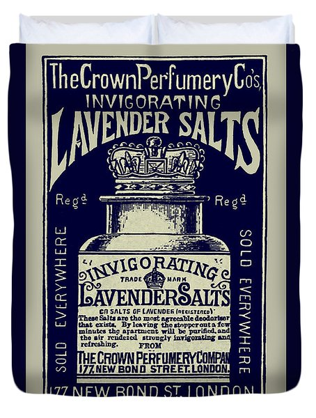 Lavender Salts Ad 1893 Duvet Cover by Phil Cardamone
