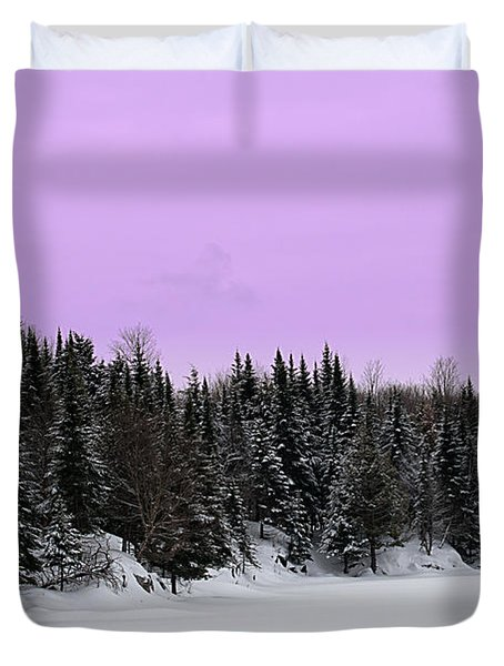 Duvet Cover featuring the photograph Lavender Skies by Bianca Nadeau