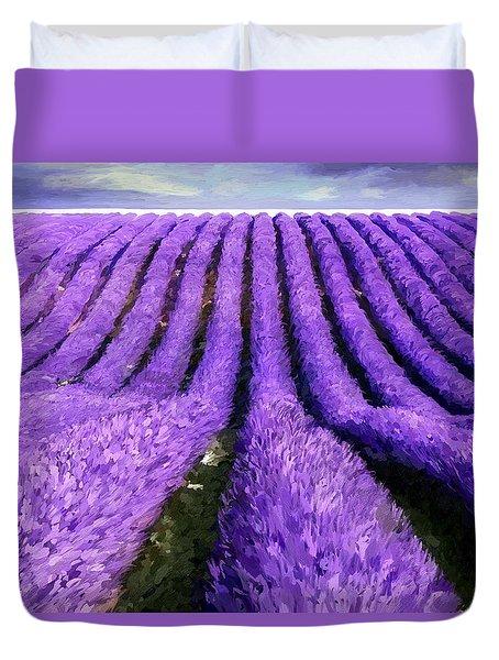 Lavender Straight Duvet Cover by James Shepherd