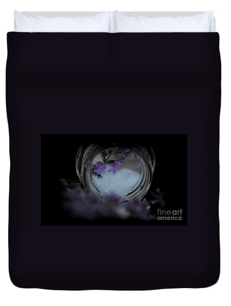 Duvet Cover featuring the photograph Lavender Sugar by Marija Djedovic