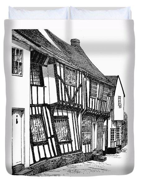 Lavenham Timber Duvet Cover by Shirley Miller