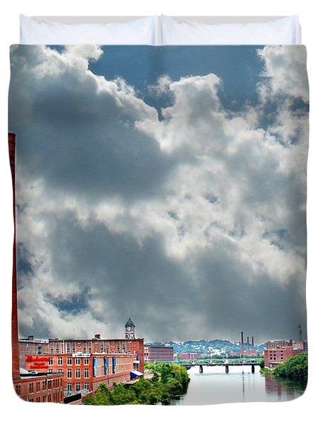Lawrence Ma Skyline Duvet Cover by Barbara S Nickerson