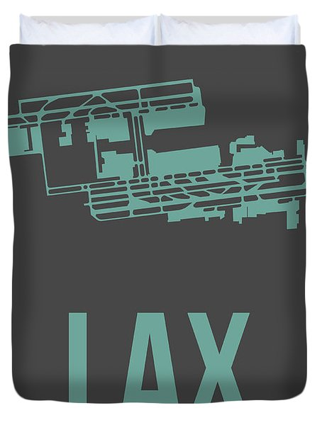 Lax Airport Poster 2 Duvet Cover