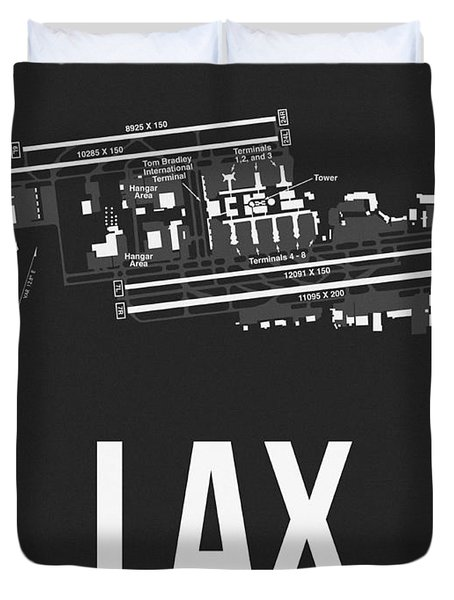 Lax Los Angeles Airport Poster 3 Duvet Cover