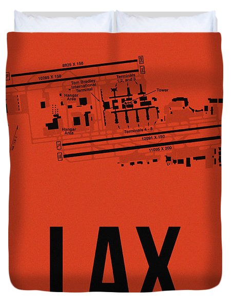 Lax Los Angeles Airport Poster 4 Duvet Cover