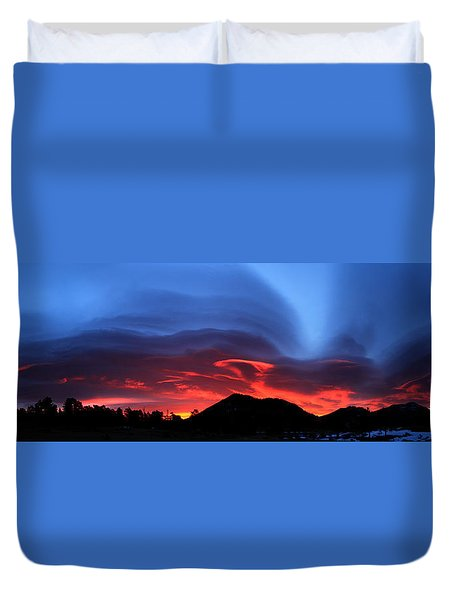 Layers In The Sky - Panorama Duvet Cover