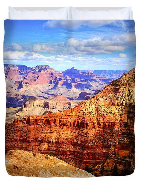 Layers Of The Canyon Duvet Cover