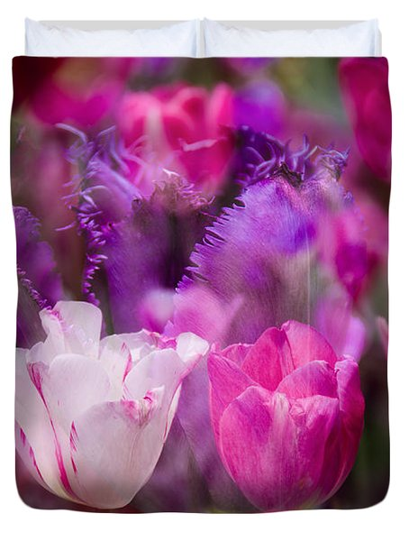 Layers Of Tulips Duvet Cover