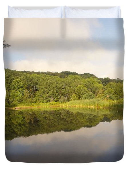 Duvet Cover featuring the photograph Lazy Afternoon by Michael Porchik