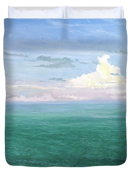 Lazy Bones, Late Afternoon Bonefish Duvet Cover