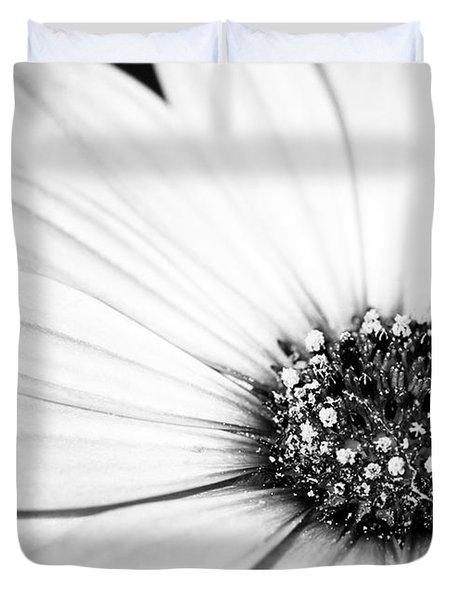 Lazy Daisy In Black And White Duvet Cover by Sabrina L Ryan